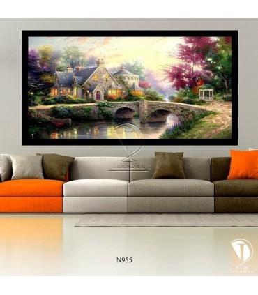 تابلو طرح خانه زیبا : کد N955