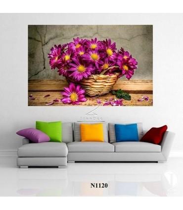 تابلو سبد گل : کد N1120