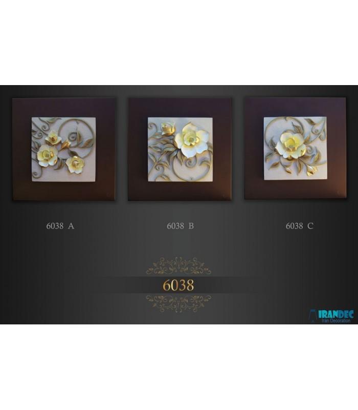 تابلو گل برجسته کد K6038B