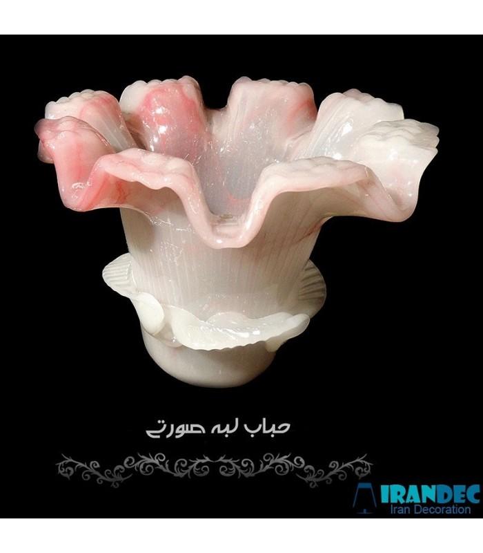 حباب گل لبه صورتی