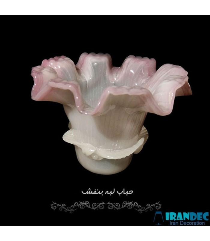 حباب گل لبه بنفش