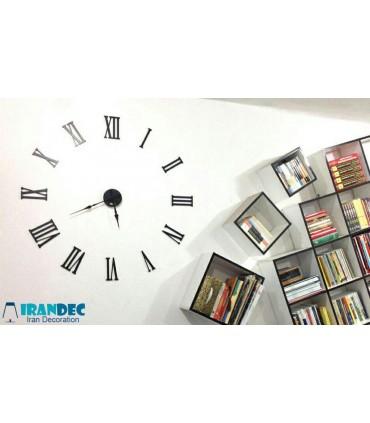 نمونه نصب شده ساعت دیواری عدد یونانی رنگ مشکی با عقربه کلاسیک