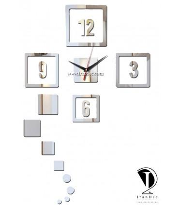 ساعت دیواری مدرن -مدل مربعی عدد دار
