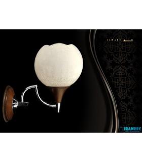دیوارکوب لوستر روناک مدل شیراز با حباب آبگز