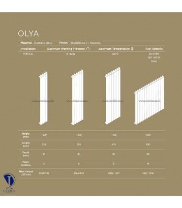 رادیاتور استیل قدی مدل Olya