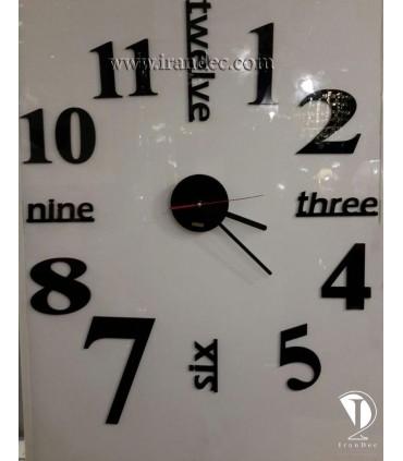 مونه نصب شده ساعت دیواری مدرن کد 299 رنگ مشکی با عقربه معمولی
