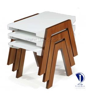 میز عسلی چوبی مدل رز